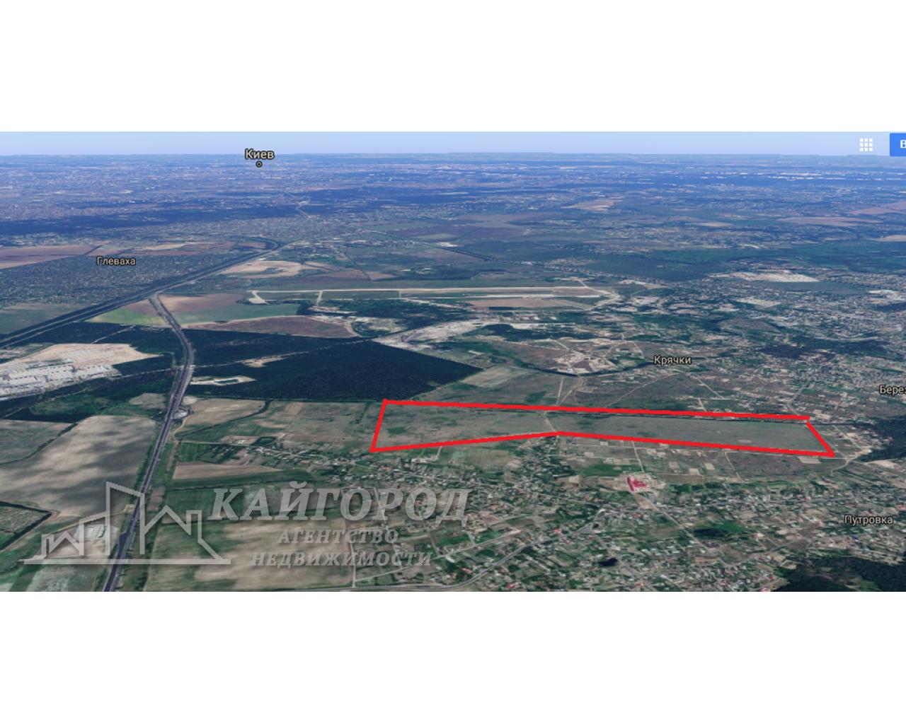 Участок под строительство 52 ГА, 20 км от Киева.